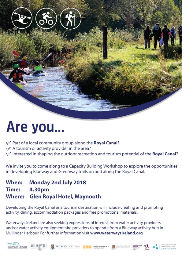 waterways ireland workshop for development of royal canal and Greenway.
