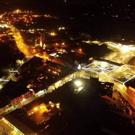 Beautiful birds eye view of the Kilcock Christmas Lights