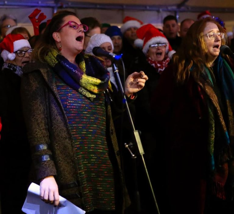 Eimear Crehan & Mary Coughlan at Carol Service for the Christmas Lights event.